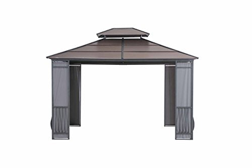 Sunjoy 10' x 12' Wyndham Hardtop Gazebo with Fabric Screen - Faux Copper Top