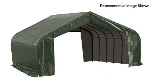 22x20x13 Peak Style Shelter with Green Cover