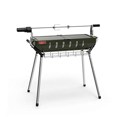 Zxb-shop BBQ Outdoor Picnic Thicken Large Barbecue Home Portable Folding Grill Outdoor Barbecue Shelf Gourmet BBQ Grill