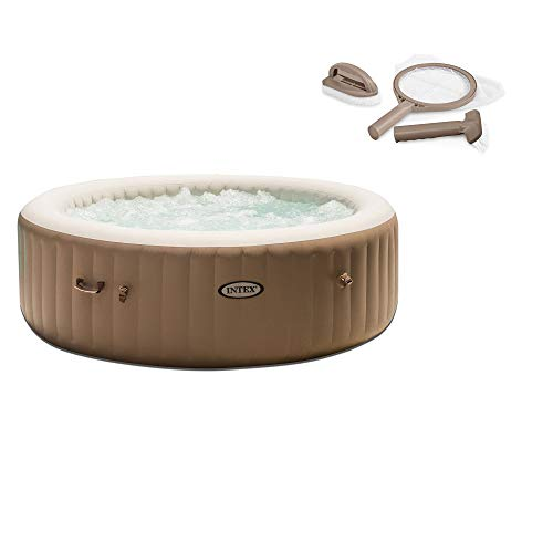 Intex Inflatable Pure Spa 6-Person Portable Heated Jet Hot Tub & Maintenance Kit