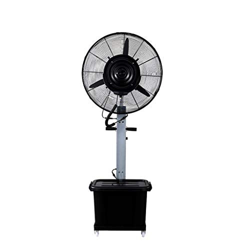 Pedestal Fan Silent Space-Saving Spray Industrial Electric Floor Standing Oscillating Rotating Simple and Easy to Assemble Water Capacity: 43L