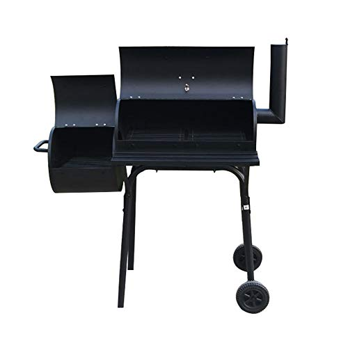 SN Smoker Charcoal Barbecue Grill, with Wheels and Heat Indicator Portable Garden Outdoor BBQ Grill