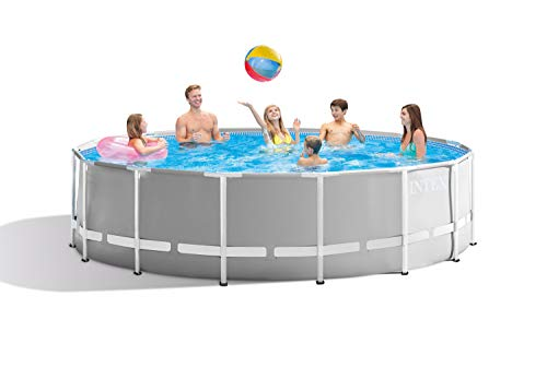 Intex 26725EH Prism Frame Set Above Ground Pool, Gray
