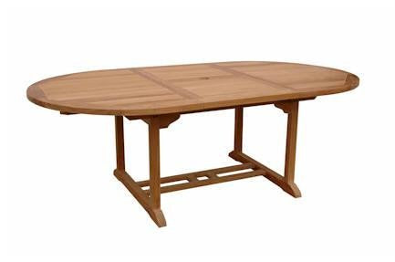 Anderson Teak Bahama Oval Extension Table Extra Thick Wood 87""