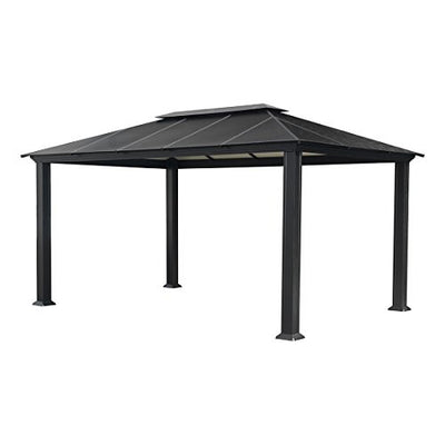 Paragon-Outdoor GZ3XLK Santana Gazebo, 11' x 16', Grey