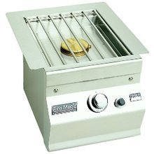 Island Slide-In Side Burner Sideburner Size: Single, Sideburner Color: Stainless Steel, Gas Type: Natural Gas