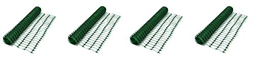 Resinet Barrier Fence OL3048100-G Lightweight Flat Oriented Barrier Fence, 370 lb. Tensile Strength, 4' x 100', Green (4-(Pack))