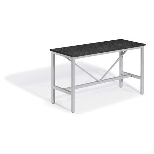 Oxford Garden TV72BRL Travira Bar Table, Powder Coat Flint