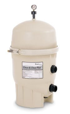 Clean & Clear Plus Fiberglass Reinforced Polypropylene Tank Cartridge Pool Filter, 320 Square Feet, 120 GPM (Residential)