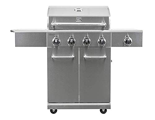 Kenmore PG-40405S0LA-AM Stainless Steel 4 Outdoor Patio Gas BBQ Propane Grill with Side Burner
