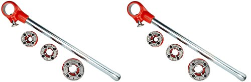 RIDGID 36345 00-R Exposed Ratchet Threader Set, Ratcheting Pipe Threading Set of 1/2-Inch to 1-Inch NPT Pipe Threading Dies and Manual Ratcheting Pipe Threader (Pack of 2)