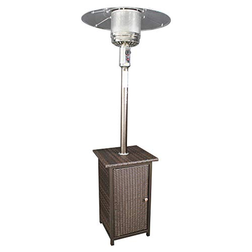 Jur_Global GH Liquid Propane Gas Patio Heater with Wicker Stand