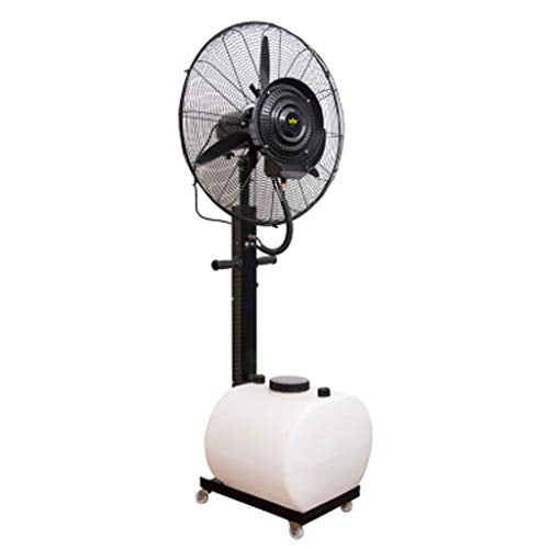 Atomized Standing Spray Fan Pivoting Fan Head Industrial Commercial Cooling Fan High Power Evaporative Air Cooler 40 L Water Tank Silent Sleeping Black - Diameter 65cm