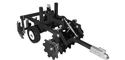 "Streamline Industrial DISC CULTIVATOR Harrow - 33"" Cut Width - Tow Behind ATV UTV & Garden Tractor"