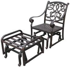 "Heritage Outdoor Living Elisabeth Cast Aluminum 5pc Outdoor Adjustable Club Chair Set with 21"" Square Table - Antique Bronze"