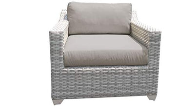 TK Classics Fairmont 11 Piece Outdoor Wicker Patio Furniture Set 11d in Spa
