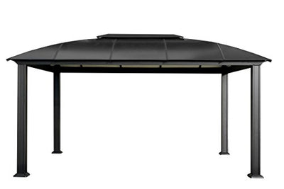 Paragon-Outdoor GZ3DXL Backyard Structure Hardtop Siena Gazebo, 12' x 16', Black