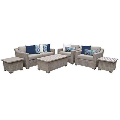TK Classics COAST-07d-BEIGE Coast Seating Patio Furniture, Beige