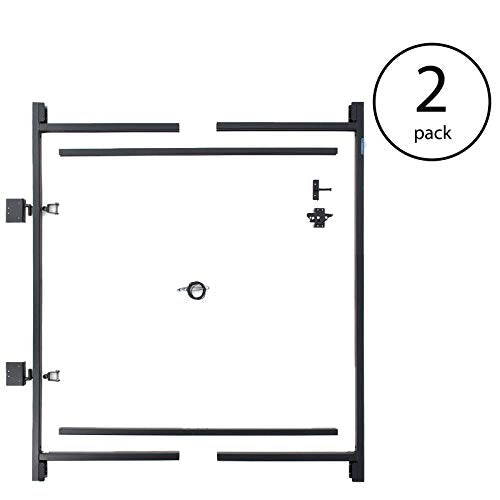 "MRT SUPPLY Steel Frame Gate Building Kit, 60""-96 Inch Wide Opening (2 Pack) with Ebook"