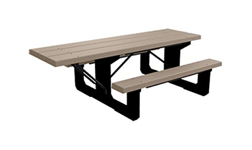 Kirby Built Products 8' Colossus Wheelchair Accessible Picnic Table - Recycled Plastic (Desert Tan)