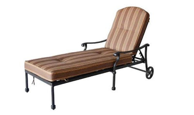 Heritage Outdoor Living Palm Tree Cast Aluminum Chaise Lounge - Antique Bronze