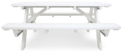 Ivy Terrace IVPT172-WH Classics Picnic Table, 6-Feet, White