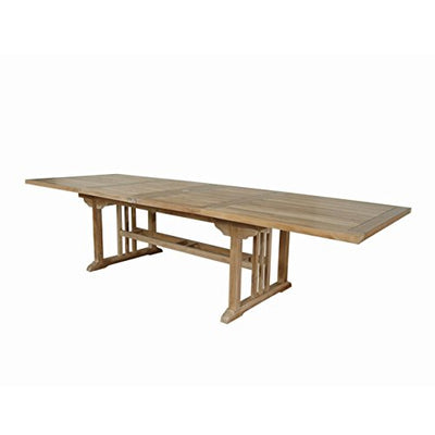 Anderson Teak Sahara Rectangular Double Ext. Table 126""
