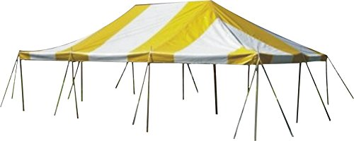 20-Foot by 30-Foot Yellow and White Pole Tent, Commercial Canopy Heavy Duty 16-Ounce Vinyl for Parties, Weddings, and Events