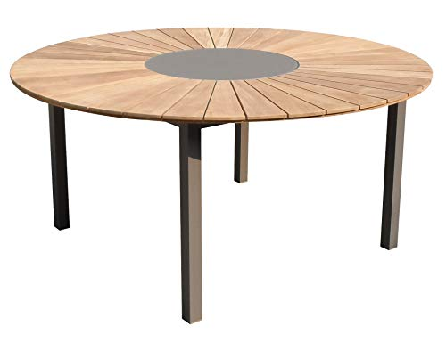 Whiteline Modern Outdoor Living ODT1539-TAU Sanctuary Dining Table, Taupe