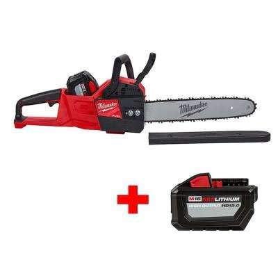 Milwaukee M18 Fuel 16 in. 18-Volt Lithium-Ion Battery Brushless Cordless Chainsaw Kit with Free High Output 12.0Ah Battery
