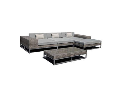Monaco 5-Piece Sectional. Outdoor Powder Coated Aluminum Patio Furniture