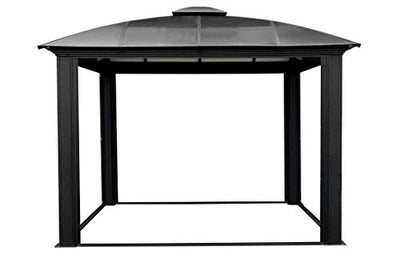 Paragon Outdoor GZ3DS 12 x 12 ft. Siena Hard-Top Dome Gazebo with Sliding Screen