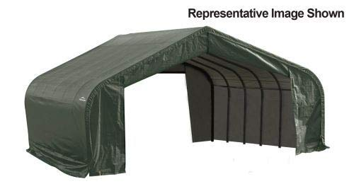 22x28x13 Peak Style Shelter with Green Cover