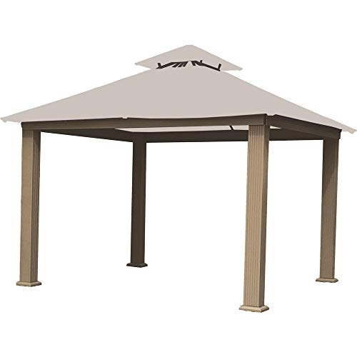 ACACIA 12ft x 12ft Gazebo Natural White OutDura Canopy