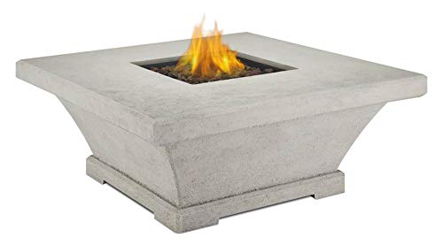 Real Flame 11706LP-TCRM Monaco Square Low Propane Fire Table, Large, Cream