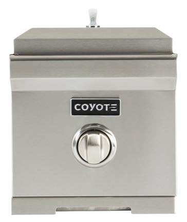 Coyote 11-Inch Built-in Single Side Burner, Propane Gas