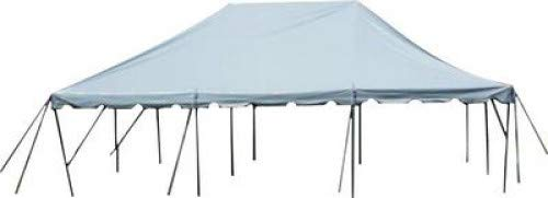 20-Foot by 30-Foot White Pole Tent, Commercial Canopy Heavy Duty 16-Ounce Vinyl for Parties, Weddings, and Events