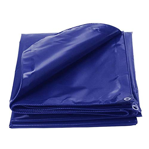 Dall Tarpaulin Heavy Duty Waterproof Outdoor Sunscreen Windproof Anti-Oxidation Plants Cover Multiple Sizes (Color : Blue, Size : 6×8m)