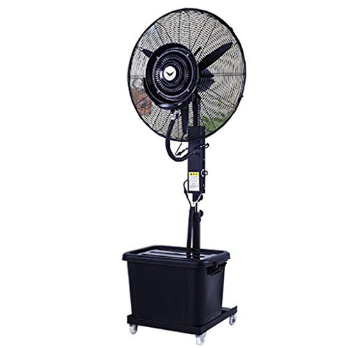 Stand Misting Fan Oscillating Lifting Outdoor High Power Atomizing Shaking Head Industrial Spray Fan Suitable for Outdoor/Factory/Shopping Mall/Factory(32Inch Black) 110V/60Hz