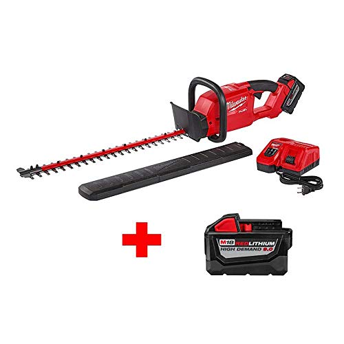 Milwaukee M18 FUEL 18-Volt Lithium-Ion Brushless Cordless Hedge Trimmer Kit with Two (2) 9.0 Ah Battery and one (1) Rapid Charger