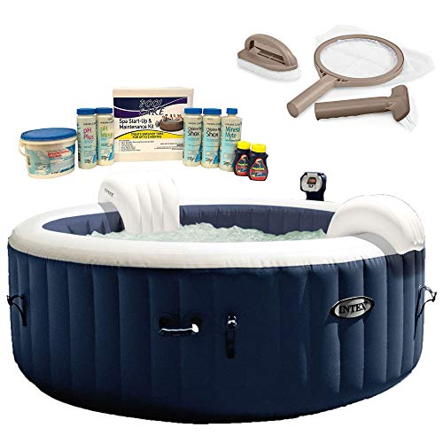 Intex Pure Spa 4-Person Inflatable Hot Tub, Maintenance Kit, Chemical Kit
