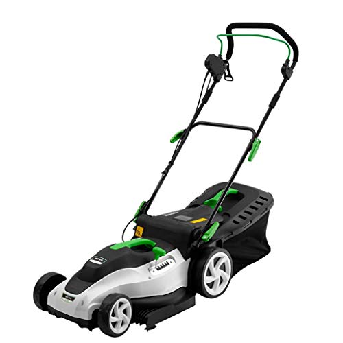 WHJ@ 1800w Hand Push Electric Lawn Mower Home Lawn Machine Small Weeder Trimmer Lawn Mower