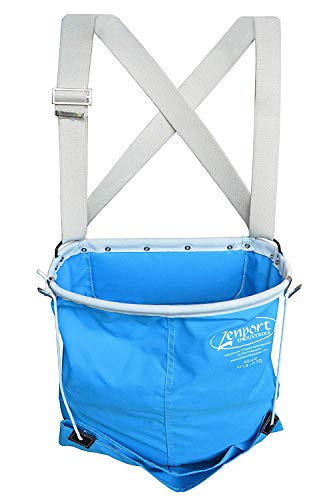 Zenport AG416-10PK, AgriKon 44-Pound Wire Rim Soft Shell Harvest Fruit, Pear/Apple Picking Bag AG416 Box of 10, Blue