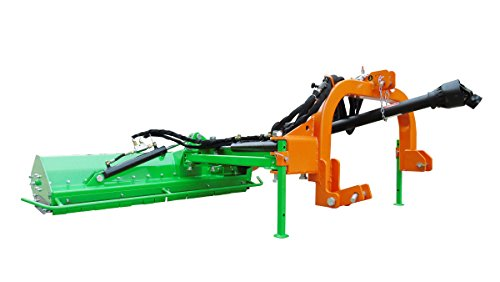 "Nova Tractor 61"" Light Duty Ditch Bank Flail Mower BCRL155, for Tractor 25 to 40 HP, 3pt Cat I"