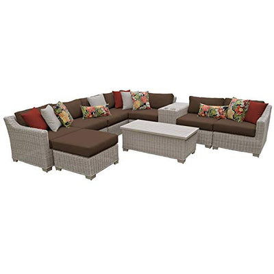 TK Classics COAST-10b-COCOA Coast Seating Patio Furniture, Cocoa