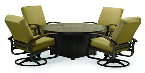 Telescope Casual SET01301 Belle Isle 5. Pc Fire Table Set, Kona Outdoor Deep Seating