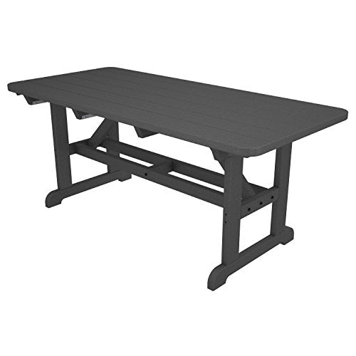POLYWOOD Park Harvester Picnic Table Finish: Slate Grey