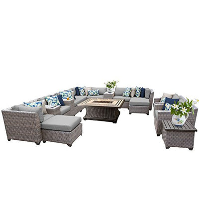 TK Classics FLORENCE-17b 17 Piece Outdoor Wicker Patio Furniture Set