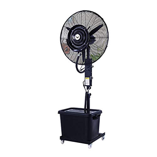 Pedestal Fan Industrial Stand Fan 28 Inch Misting Oscillating Lifting Outdoor High Power Atomizing Shaking Head Industrial Spray Fan Suitable for Outdoor/Factory/Shopping Mall/Factory Silent 3 Speed