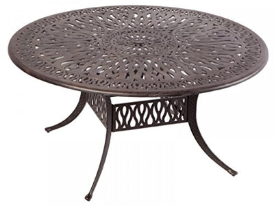 "Heritage Outdoor Living Elisabeth Cast Aluminum 60"" Dining Table - Antique Bronze"